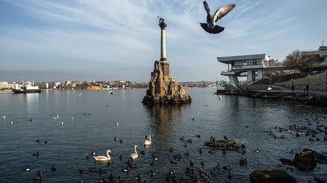 View of the Monument to Sunken Ships in Sevastopol © Vladimir Astapkovich