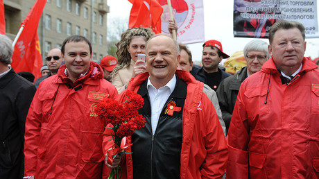 FILE PHOTO: Russian Communist Party leader Gennady Zyuganov take part in a parade in Moscow, Russia, on May 1, 2015 © Dai Tianfang / Global Look Press