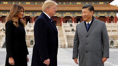 U.S. President Donald Trump and U.S. first lady Melania visit the Forbidden City with China's President Xi Jinping in Beijing, China, November 8, 2017  © Jonathan Ernst