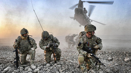FILE PHOTO: Soldiers from 16 Air Assault Brigade are dropped by Chinook helicopter into an area of operations in Afghanistan during Operation HERRICK 13 © MOD UK