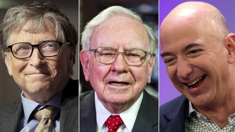 Bill Gates, Warren Buffett, Jeff Bezos © Reuters