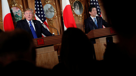 US President Donald Trump and Japan's Prime Minister Shinzo Abe © Jonathan Ernst
