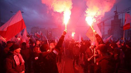 Warsaw, Poland November 11, 2017. ©Agencja Gazeta / Adam Stepien