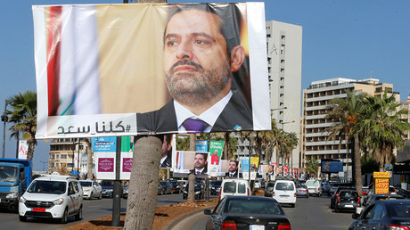 Posters depicting Lebanon's Prime Minister Saad al-Hariri are seen in Beirut  © Mohamed Azakir