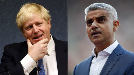 Sadiq Khan (right) has called for Boris Johnson (left) to be fired from his role as Foreign Secretary. © Reuters