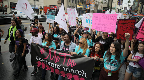Hundreds join #MeToo rally against sexual abuse in Hollywood