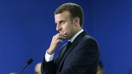 French President Emmanuel Macron © Satish Kumar