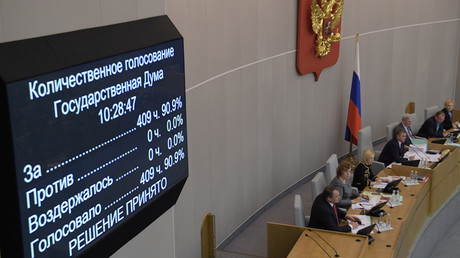 Russian MPs pass foreign agent bill for media in 'mirror response' to US