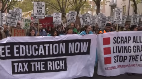 Students rally for free education in London