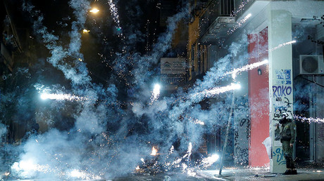 Molotov cocktails and tear gas used as Greeks mark 1973 student revolt