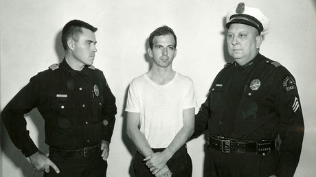 Lee Harvey Oswald (C) was killed by Jack Ruby on 24 November on the eve of President Kennedy's burial. © Dallas Police Department