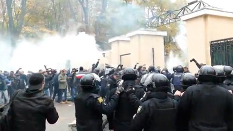 At least 20 officers injured in clashes with protesters in Odessa, Ukraine