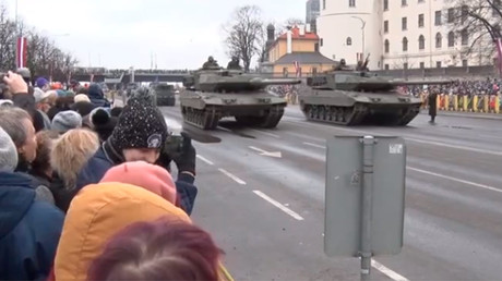 Annual military parade marks Latvian Independence Day