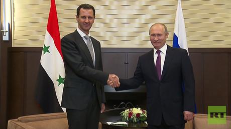 'Fight against terrorism in Syria nearing an end': Putin & Assad meet, discuss political settlement