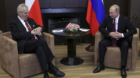 Drop sanctions & eat our cheese: Czech President Zeman meets Putin, brings along 140 entrepreneurs