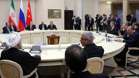 Putin, Erdogan & Rouhani agree on holding Syrian national dialogue congress in Sochi