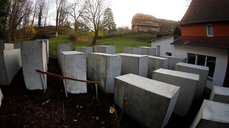German activists build Holocaust memorial outside AfD politician's house