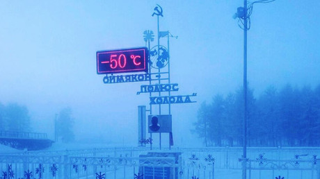 Not too cool for school: Siberian students brave -50C cold & extreme blizzard to attend classes