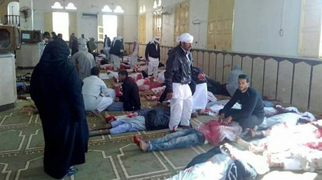 At least 235 killed in gun & bomb attack on Egyptian mosque