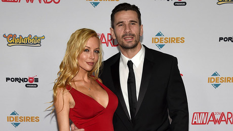 Adult film actress Kayden Kross (L) and adult film actor/director Manuel Ferrara. © Ethan Miller / Getty Images / AFP