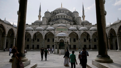 The Blue Mosque, in Istanbul, Turkey © Alkis Konstantinidis