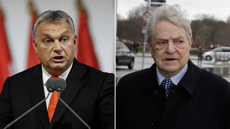 Hungarian PM Orban says George Soros will interfere in election, vows to stop him