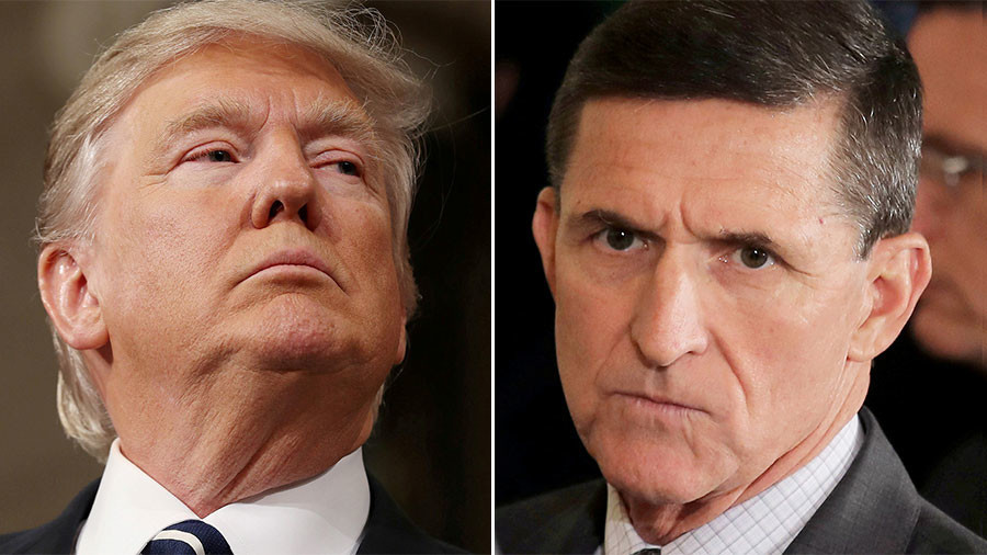 'Absolutely no collusion' Trump says after Flynn plea-bargain