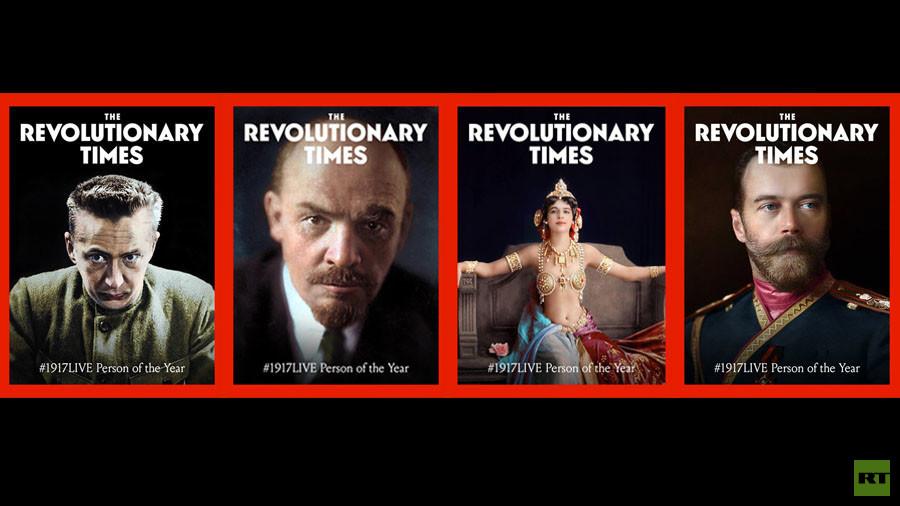Lenin, Romanov, Kerensky, Mata Hari: Vote for #1917LIVE Person of the Year