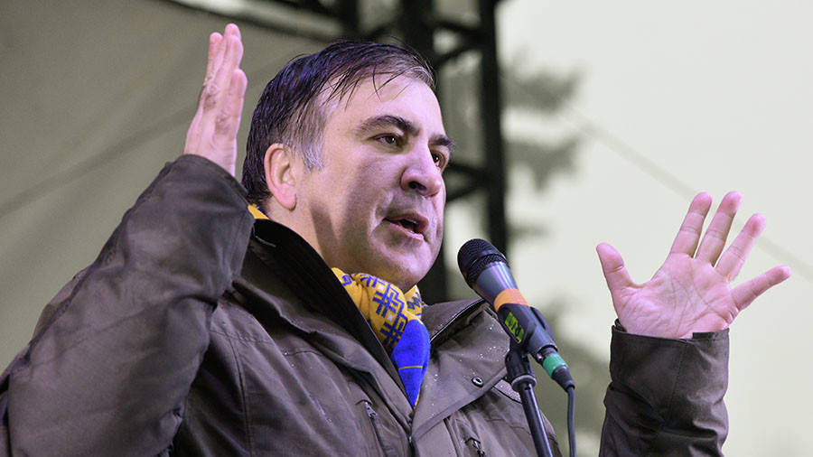 Saakashvili supporters free him from police van after detention in Kiev