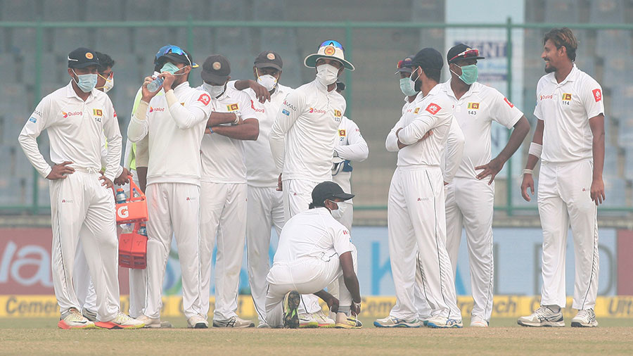 India and Sri Lanka cricketers battle on in Delhi despite hazardous thick smog