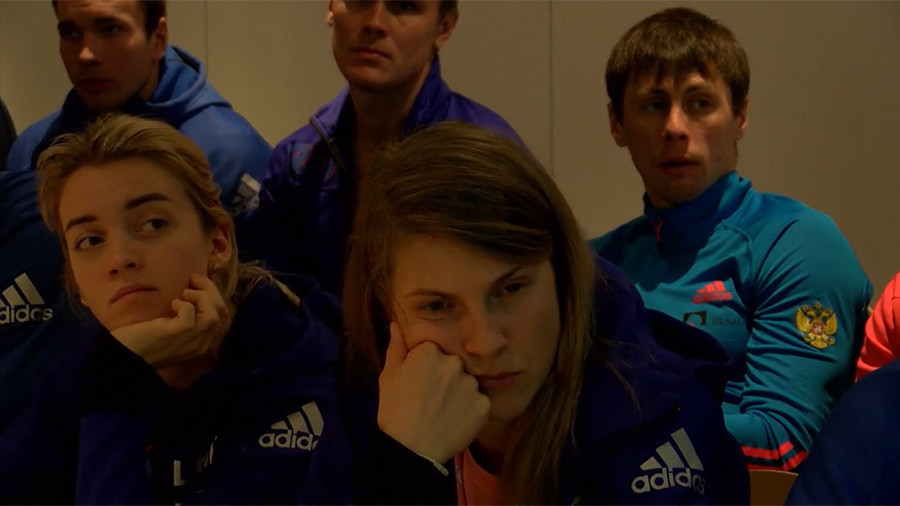 Russian athletes watch fateful IOC announcement of blanket ban of national team   %Post Title