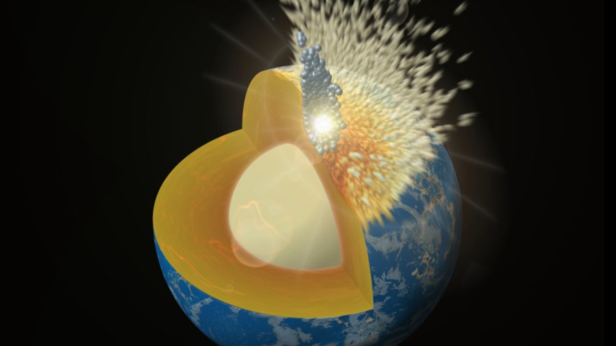 Planetary collisions brought metals to Earth