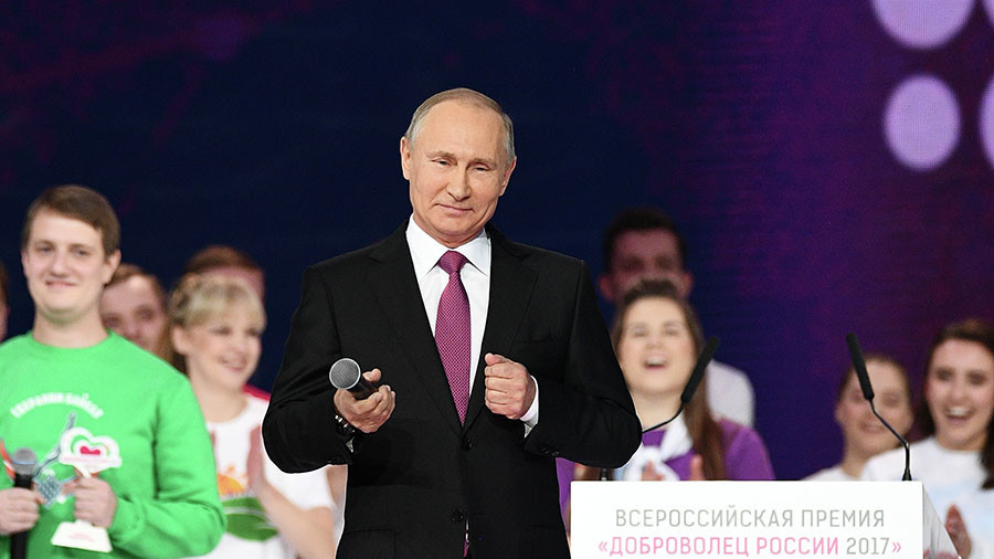 Russian President Vladimir Putin announces re-election bid