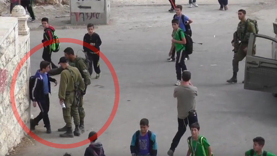 Israeli soldiers filmed harassing schoolchildren in occupied Hebron