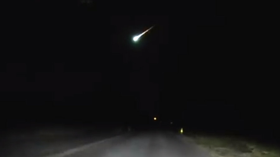 Fireball blazes across NJ night sky in Police dashcam VIDEO