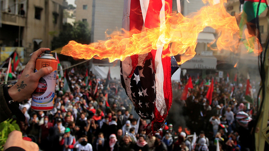 Riot outside US Embassy in Lebanon