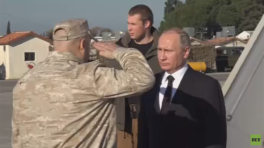 Watch Putin visit Russian troops at Syria's Khmeimim Airbase   %Post Title