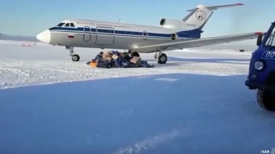 Plane scatters mail packages on snowy Russian airfield & other delivery disasters (VIDEOS)