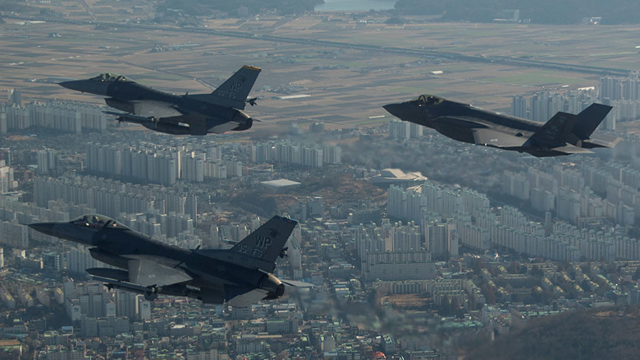 US holds massive military drills aimed at North Korea despite warnings from Moscow