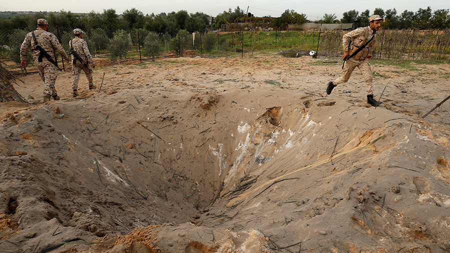 Israelis demolish tunnel from Gaza