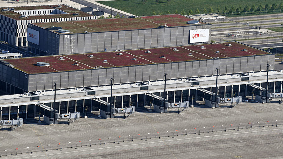 Berlin's money-guzzling airport could open 8 years overdue with 'prefab metal box' for terminal