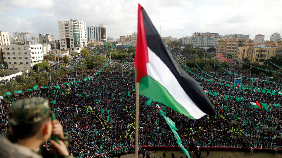 Rally in Gaza City marks 30 years since founding of Hamas