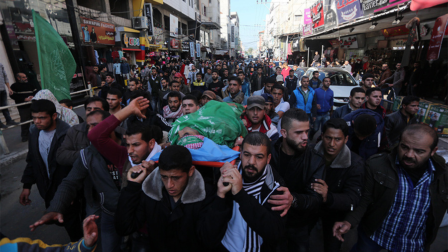 Palestinians in Gaza mourn protester shot dead by Israeli forces