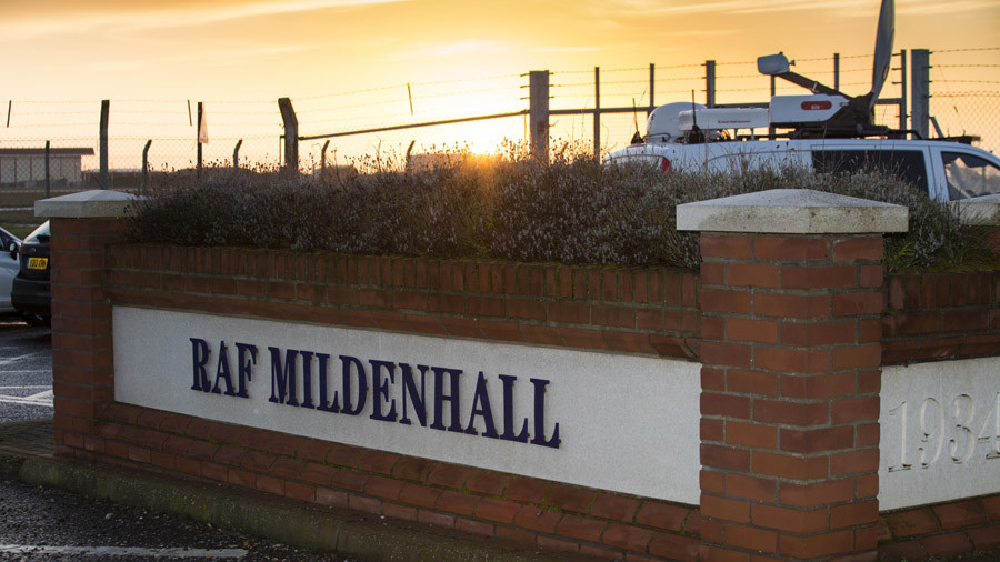 RAF Mildenhall on lockdown 'after auto tried to ram gates'