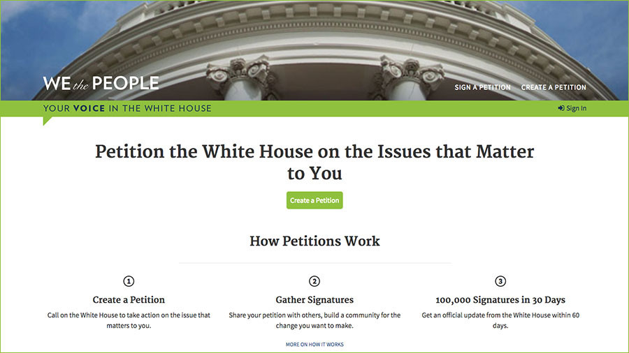 White House axes online petition tool to build new one