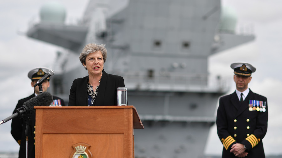 Sinking feeling? UK's brand new £3.1bn aircraft carrier has sprung a leak