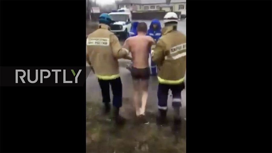 Naked man rescued from deathtrap in Russian city's underground heating  system (VIDEO)