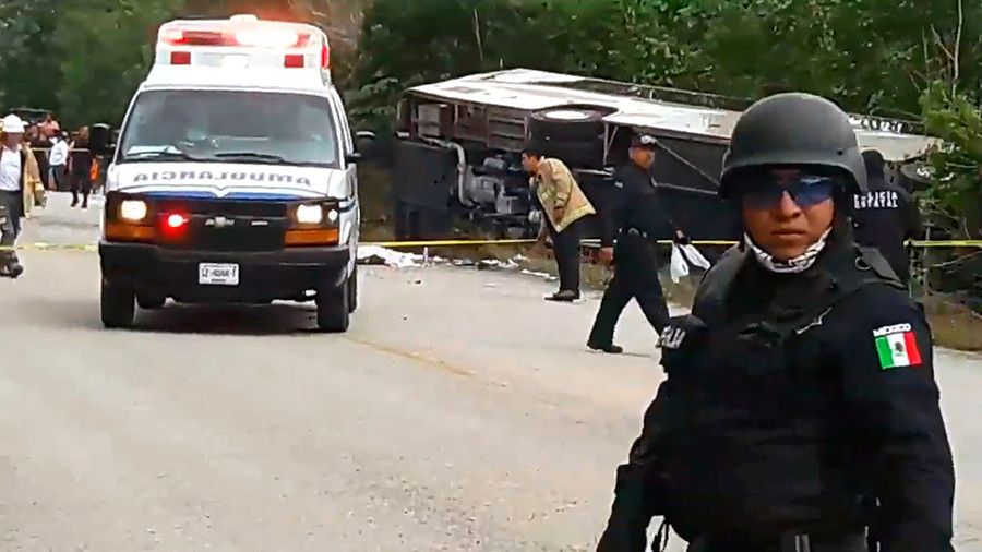 Negligent, speeding driver caused Mexican bus crash that killed 12, injured 20