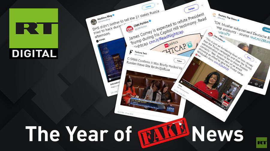 Red faces, retractions & Russia-blaming: Fake news of 2017 (VIDEO)