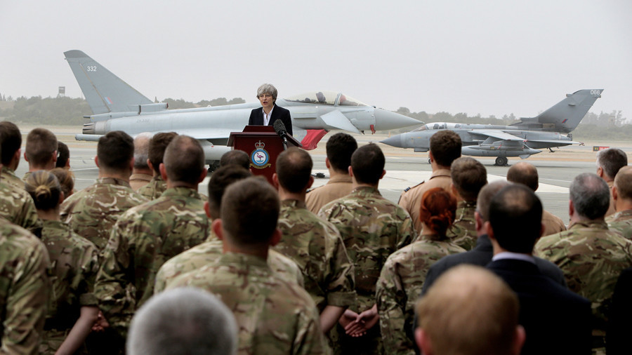 Theresa May's 'mission accomplished' moment? PM thanks UK troops for 'crushing' ISIS